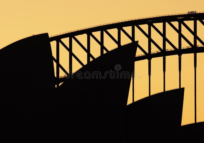 Teatro dell'Opera di Sydney nel tramonto fotografia stock