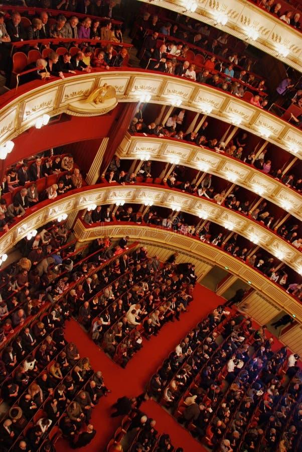 Teatro dell'Opera di Vienna fotografie stock