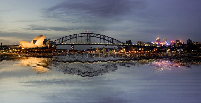 Teatro dell'Opera e Harbourbridge Sydney fotografie stock libere da diritti