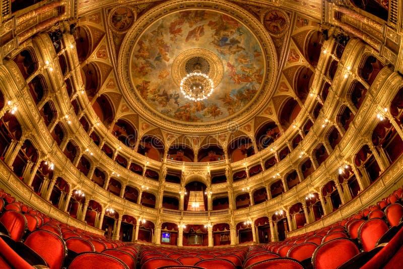 Teatro dell'opera ungherese dello stato a Budapest fotografie stock