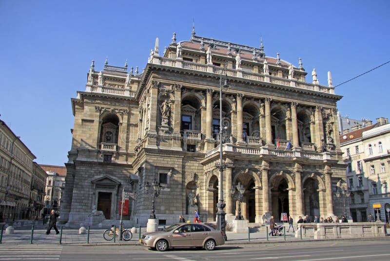 Teatro dell'opera ungherese dello stato Budapest, Ungheria fotografia stock libera da diritti