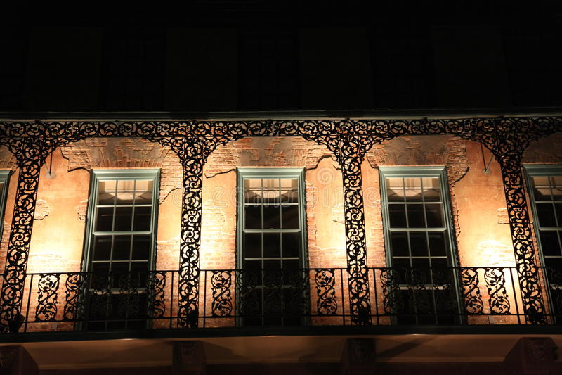 Teatro della via del bacino in Sc di Charleston fotografia stock libera da diritti