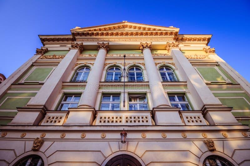 Teatro delle proprietà a Praga, repubblica Ceca immagini stock