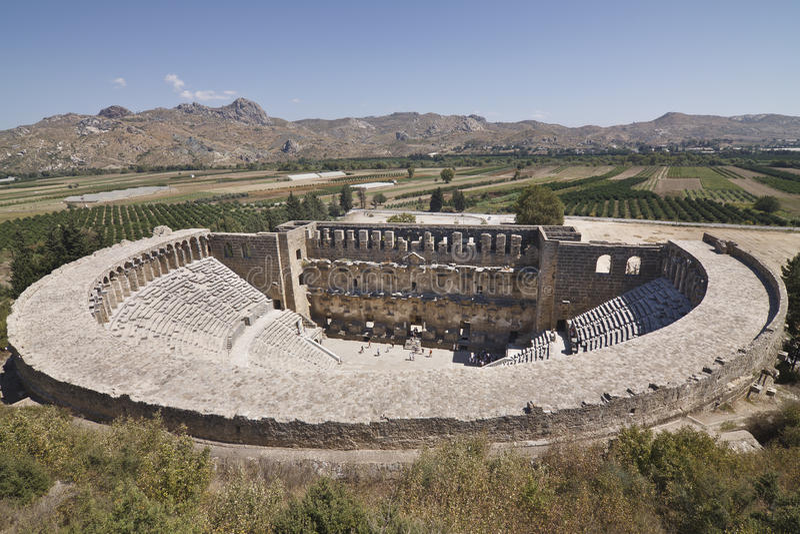 Teatro di Aspendos fotografia stock