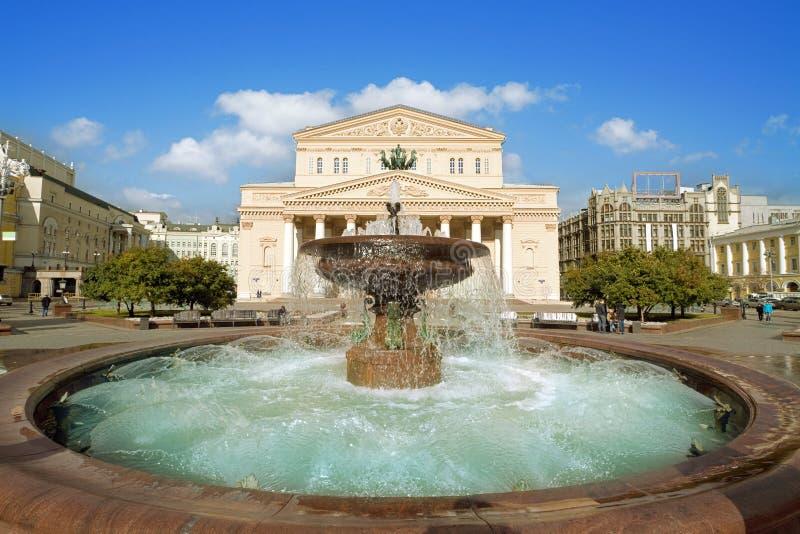 Teatro di Bolshoi, Mosca immagine stock libera da diritti