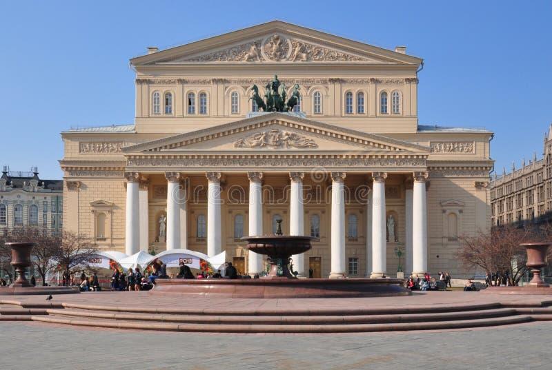 Teatro di Bolshoi, Mosca fotografie stock libere da diritti