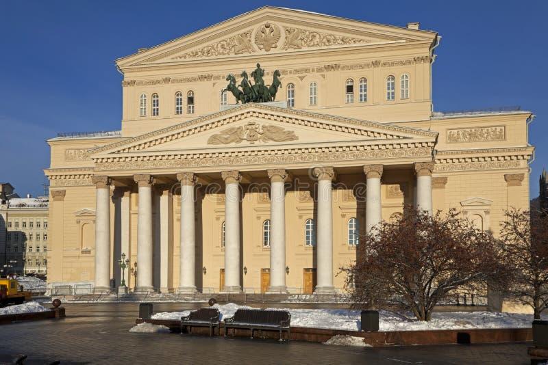 Teatro di Bolshoi, Mosca, Russia fotografia stock