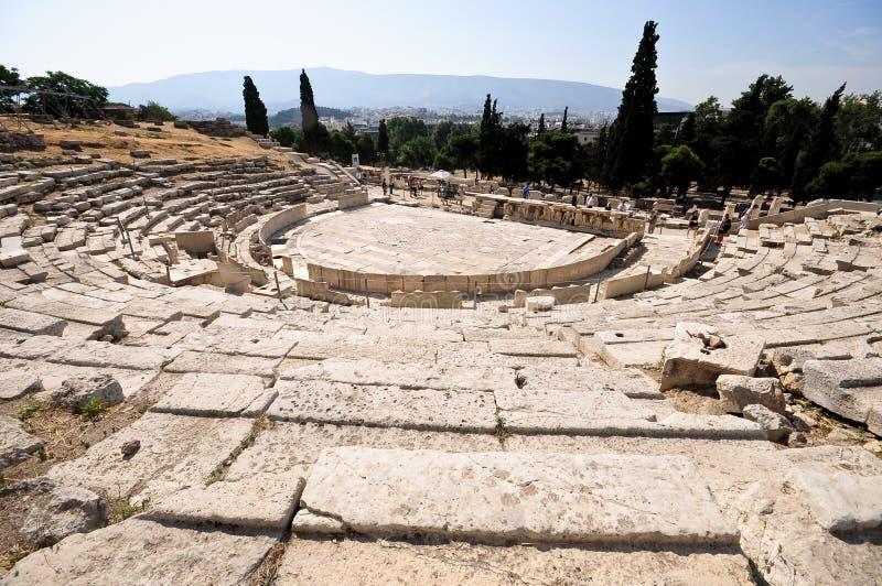 Teatro di Dionysus, Atene immagine stock libera da diritti