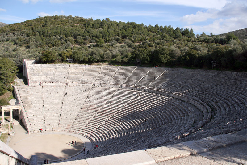 Teatro di Epidauros fotografia stock libera da diritti