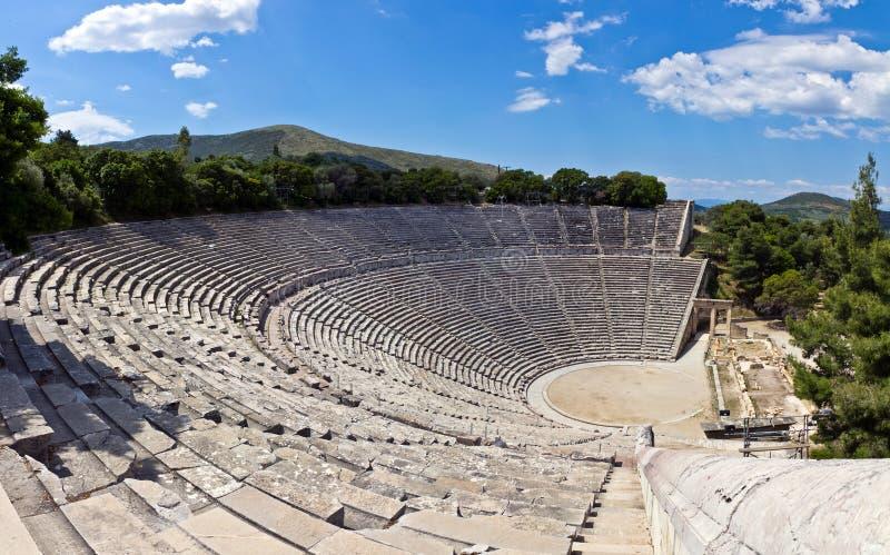 Teatro di Epidaurus, Grecia fotografia stock libera da diritti