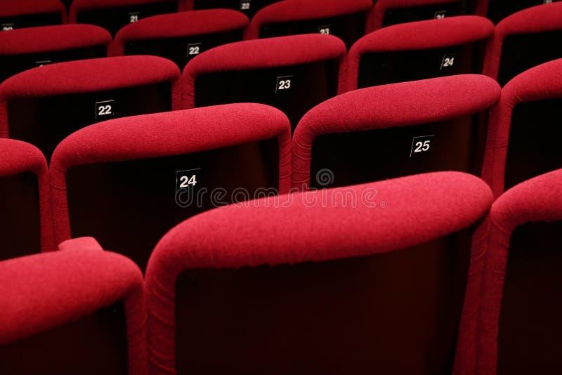 Teatro di film vuoto fotografia stock