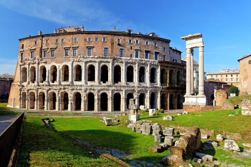 Teatro Di Marcello. Theater van Marcellus. Rome. Italië royalty-vrije stock afbeeldingen