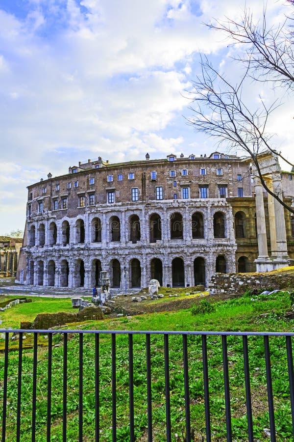Teatro Di Marcello Theater van Marcellus rome Italië stock afbeeldingen