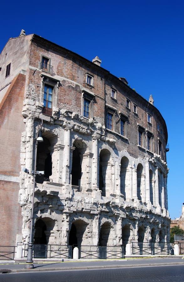 Teatro di Marcellus (Roma, Roma) immagine stock libera da diritti