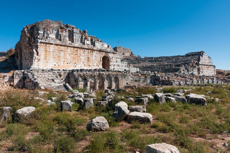 Teatro di Mileto immagini stock libere da diritti