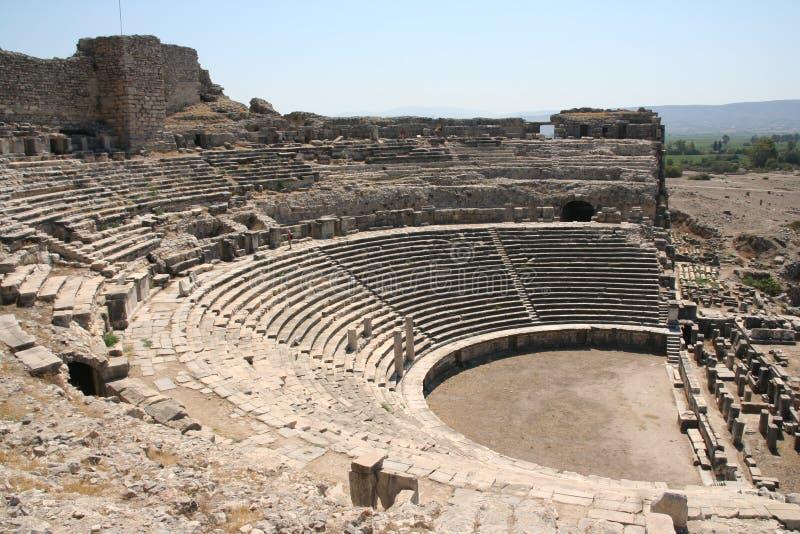 Teatro di Miletus immagine stock