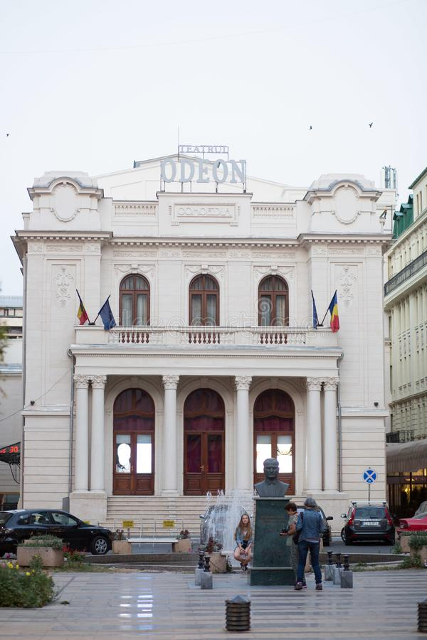 Teatro di Odeon - Bucarest, Romania fotografia stock libera da diritti