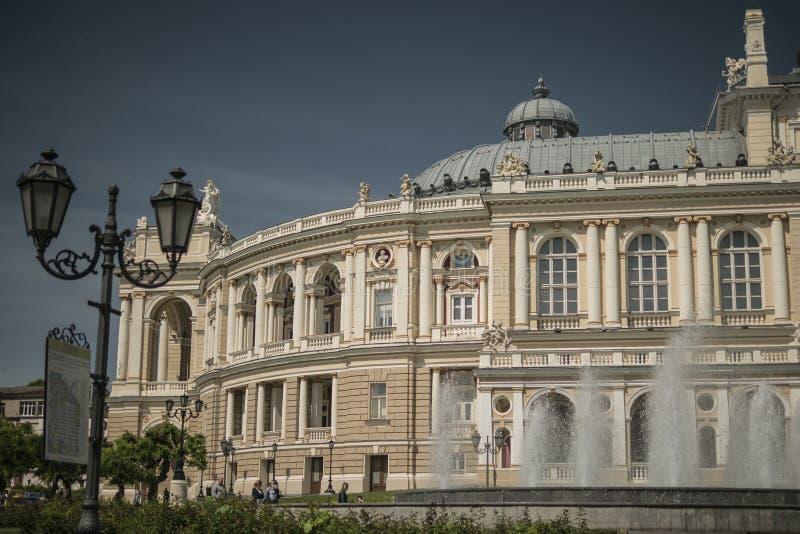 Teatro di opera Vecchia città Architettura Fontana fotografie stock libere da diritti