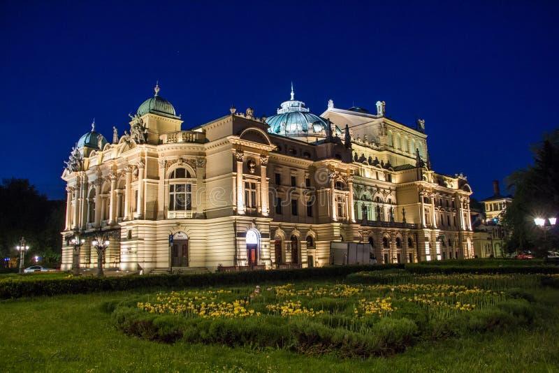Teatro di owacki del 'di Juliusz SÅ - Cracovia, PL fotografia stock