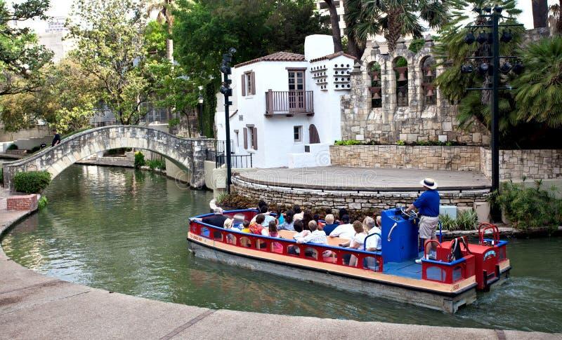 Teatro di San Antonio Riverwalk immagini stock