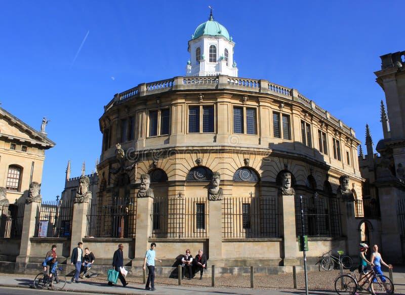 Teatro di Sheldonian, vasta via, Oxford fotografia stock libera da diritti