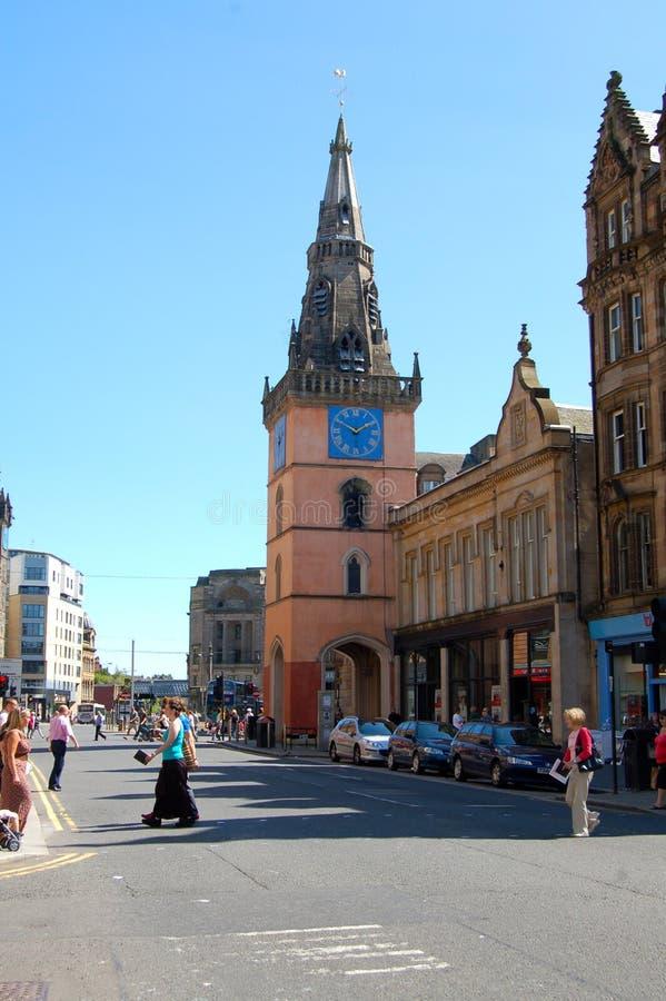 Teatro di Tron e via di Argyle, Glasgow fotografia stock libera da diritti