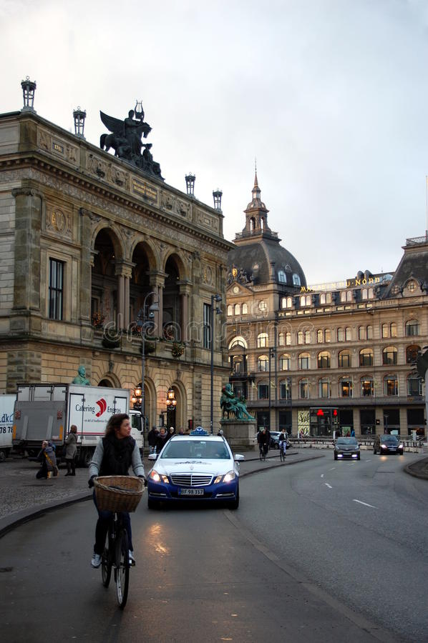 Teatro dinamarquês real, Copenhaga, Dinamarca foto de stock royalty free