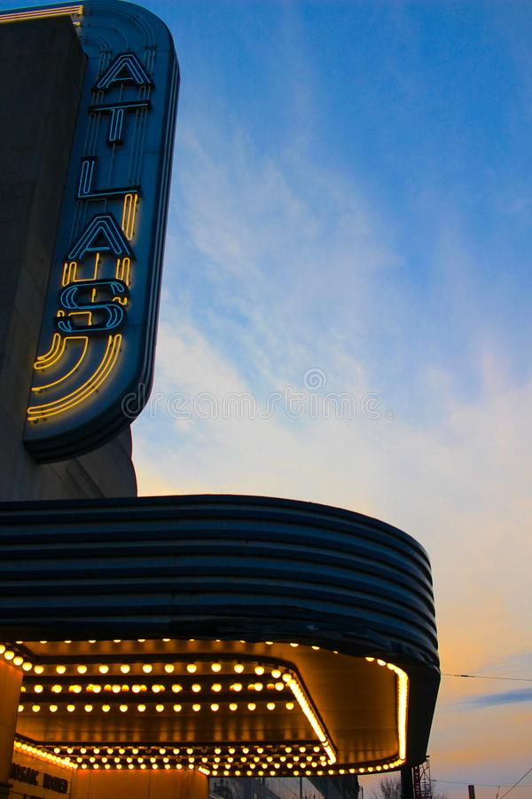Teatro do atlas no Washington DC foto de stock royalty free