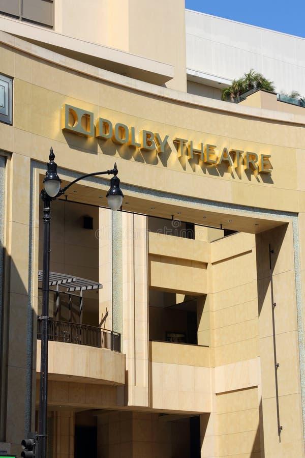 Teatro do Dolby do LA imagem de stock royalty free