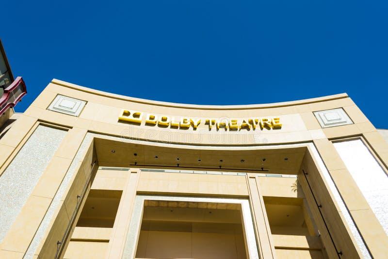 Teatro do Dolby no bulevar de Hollywood foto de stock