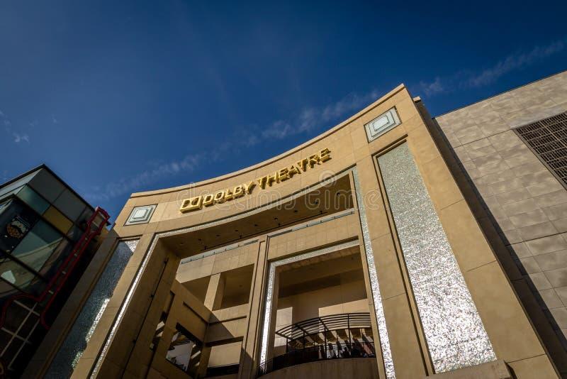 Teatro do Dolby no bulevar de Hollywood - Los Angeles, Califórnia, imagem de stock