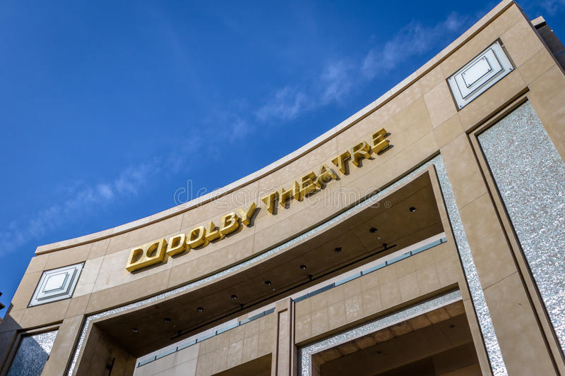 Teatro do Dolby no bulevar de Hollywood - Los Angeles, Califórnia, EUA imagem de stock