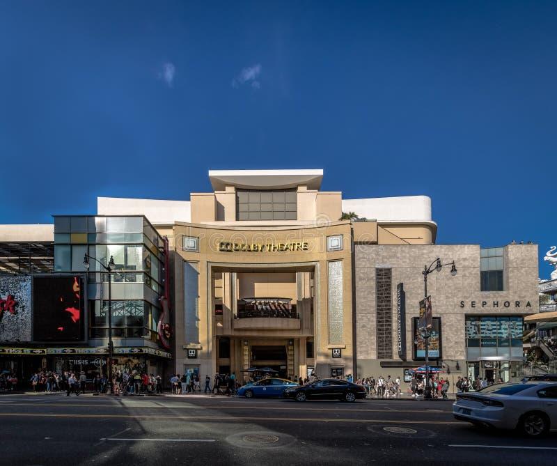 Teatro do Dolby no bulevar de Hollywood - Los Angeles, Califórnia, EUA imagem de stock