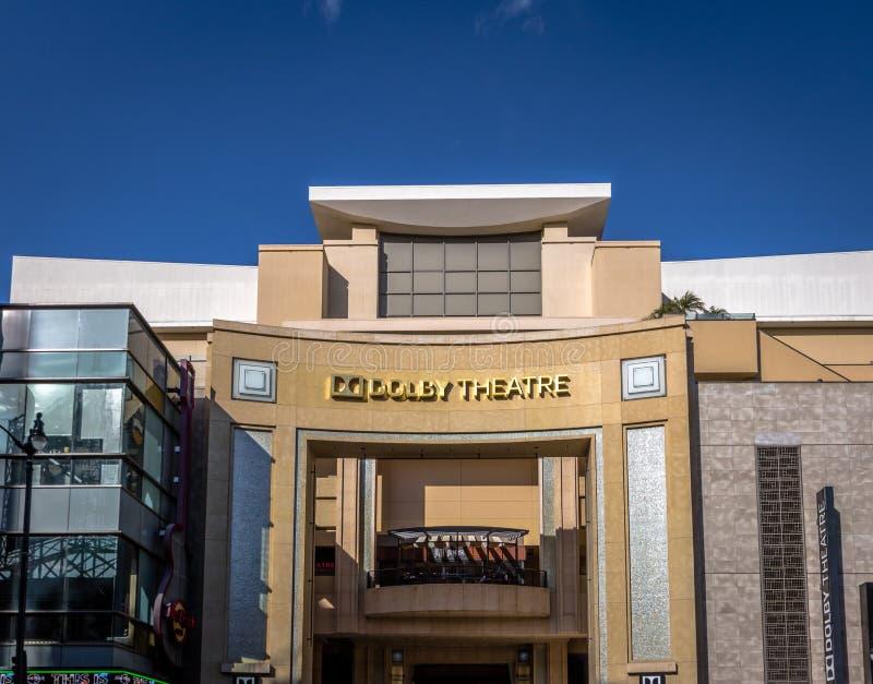 Teatro do Dolby no bulevar de Hollywood - Los Angeles, Califórnia, EUA fotografia de stock royalty free