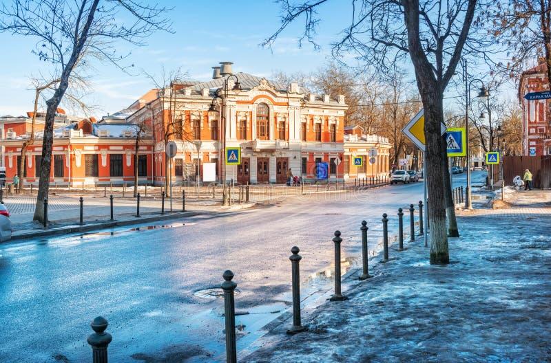 Teatro do drama de Pushkin imagens de stock royalty free