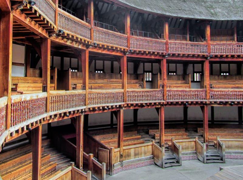Teatro do globo de Shakespeare foto de stock