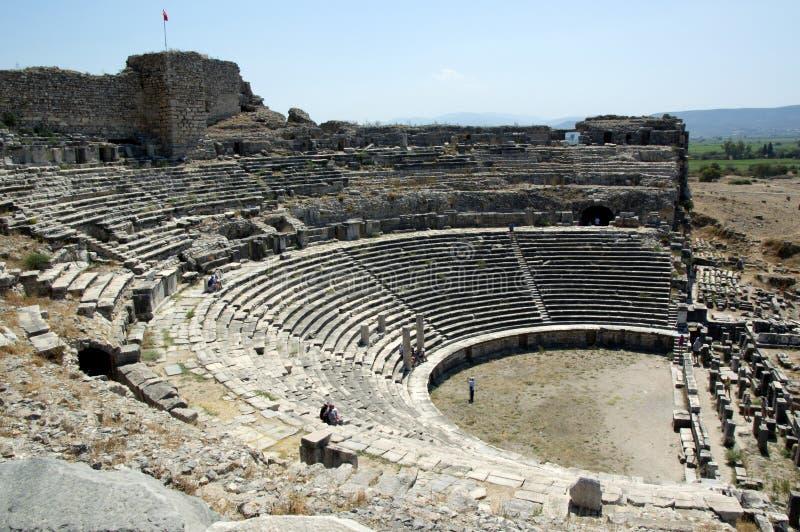 Teatro do grego clássico fotografia de stock royalty free
