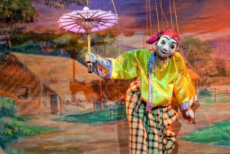 Teatro do marionete de Mandalay imagens de stock royalty free