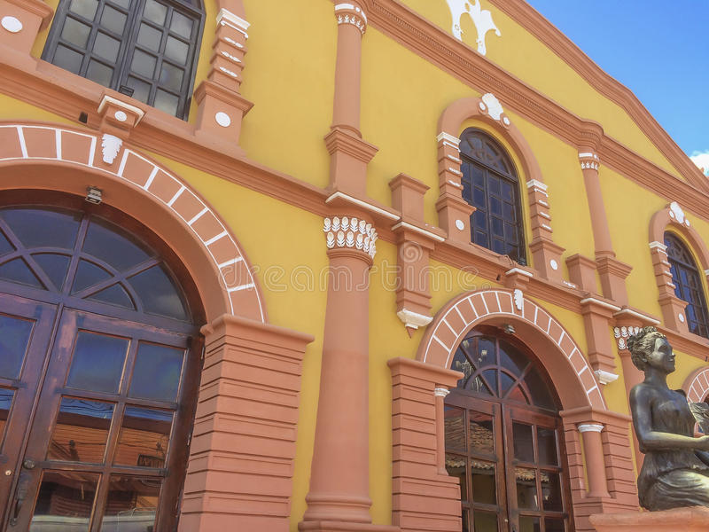 Teatro do municipal de Cruz Mena do la de José de foto de stock royalty free