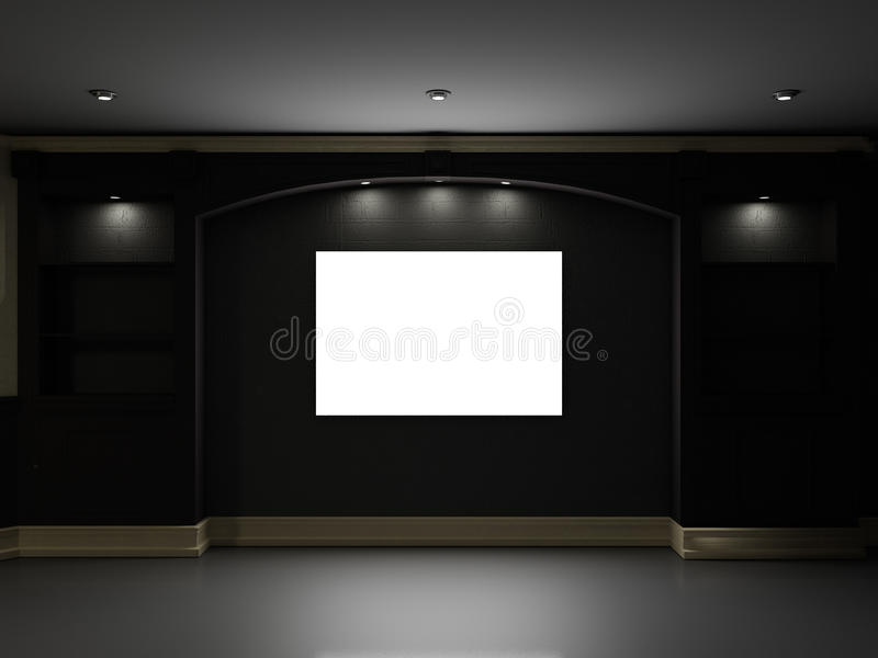 Teatro domestico illustrazione di stock