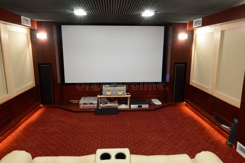 Teatro domestico immagini stock