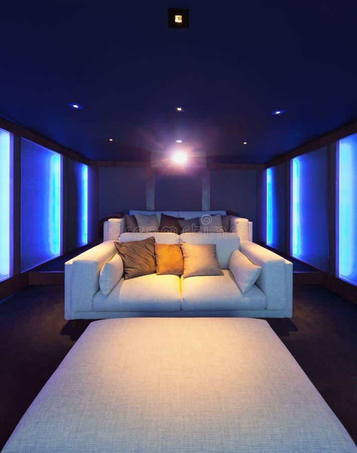 Teatro domestico, interno di lusso fotografie stock libere da diritti