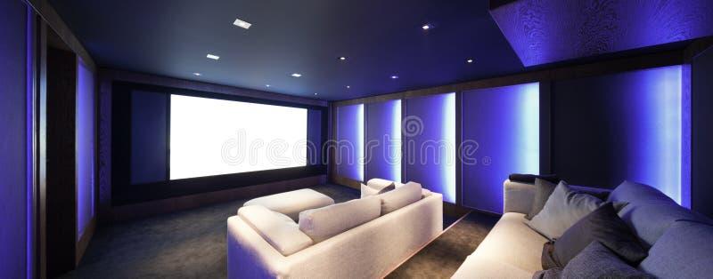 Teatro domestico, interno di lusso immagini stock