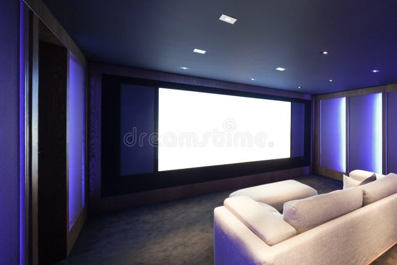 Teatro domestico, interno di lusso fotografie stock