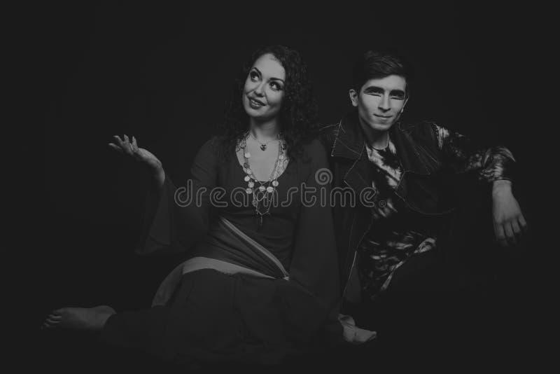 Teatro dos atores nas imagens originais foto de stock royalty free