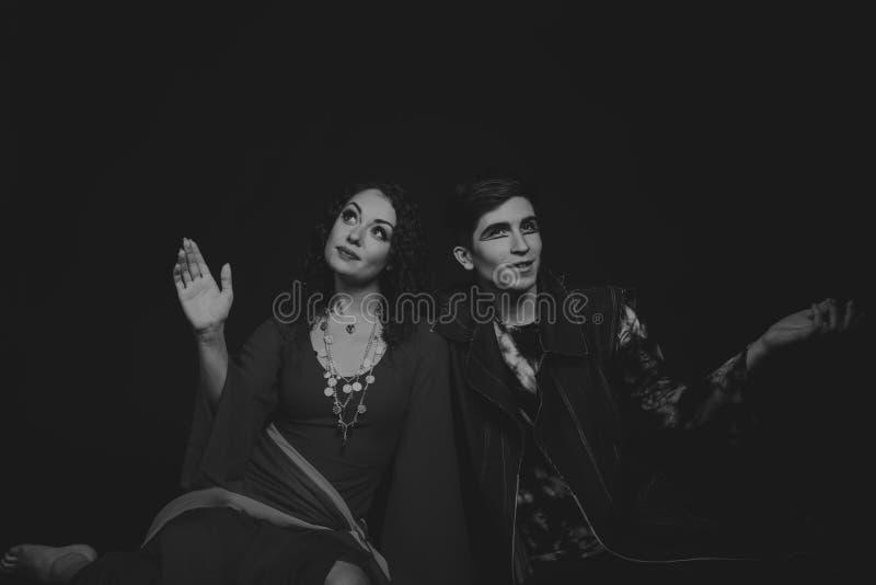 Teatro dos atores nas imagens originais foto de stock