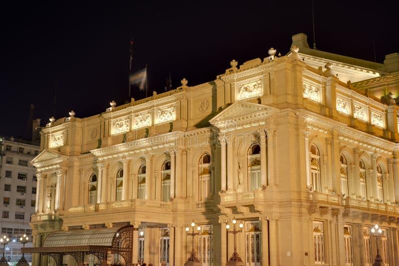 Teatro dos dois pontos em Buenos Aires, Argentina. fotos de stock royalty free