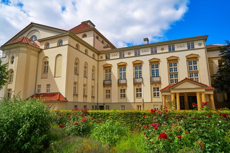 Teatro e jardim de Nordhausen em Harz Alemanha foto de stock royalty free
