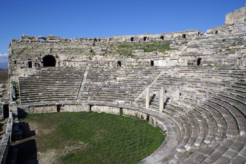 Teatro em Miletus fotos de stock