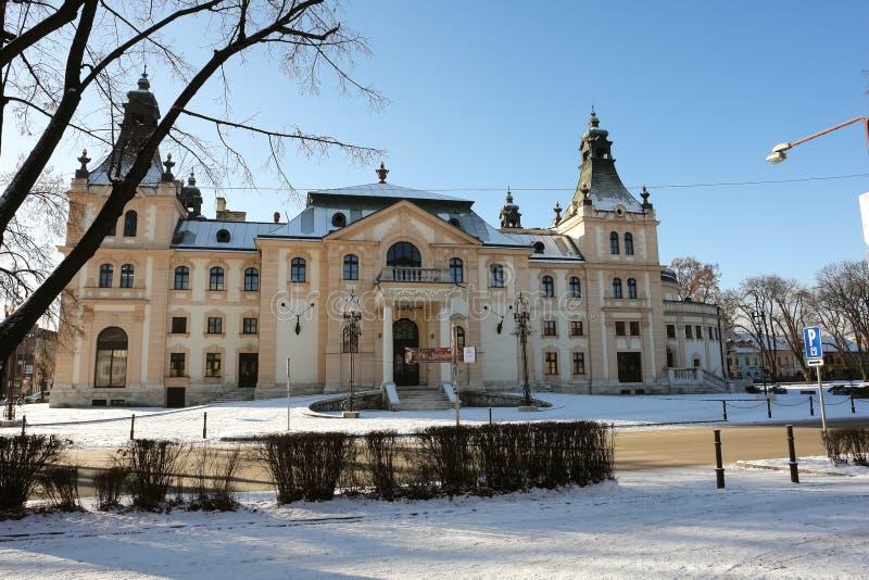 Teatro em Spisska Nova Ves imagem de stock royalty free